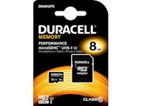 Duracell Performance 8GB microSDHC Class 10 UHS-I Memory Card + SD Adapter, 80MB/s