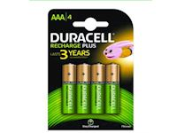 Duracell Rechargeable Staycharged (4 pack) - 750mAh AAA
