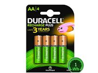 Duracell Rechargeable Staycharged (4 pack) - 1300mAh AA
