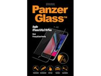 PanzerGlass Apple iPhone 6/6s/7/8 Plus - Black Case Friendly - SUPER+ Glass