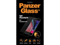 PanzerGlass Apple iPhone 6/6S/7/8 - Jet Black PRIVACY Case Friendly - SUPER+ Glass
