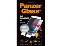 PanzerGlass Apple iPhone 6/6s/7/8 Case Friendly Privacy CamSlider - White - SUPER+ Glass