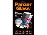 PanzerGlass Apple iPhone 7/8 Plus Case Friendly Privacy CamSlider - White - SUPER+ Glass