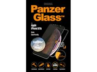 PanzerGlass Apple iPhoneX/Xs Case Friendly CamSlider Privacy - Black - SUPER+ Glass