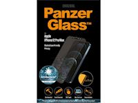 PanzerGlass Apple iPhone 12 Pro Max - Black Case Friendly Privacy Anti-Bacterial - MicroFracture Technology
